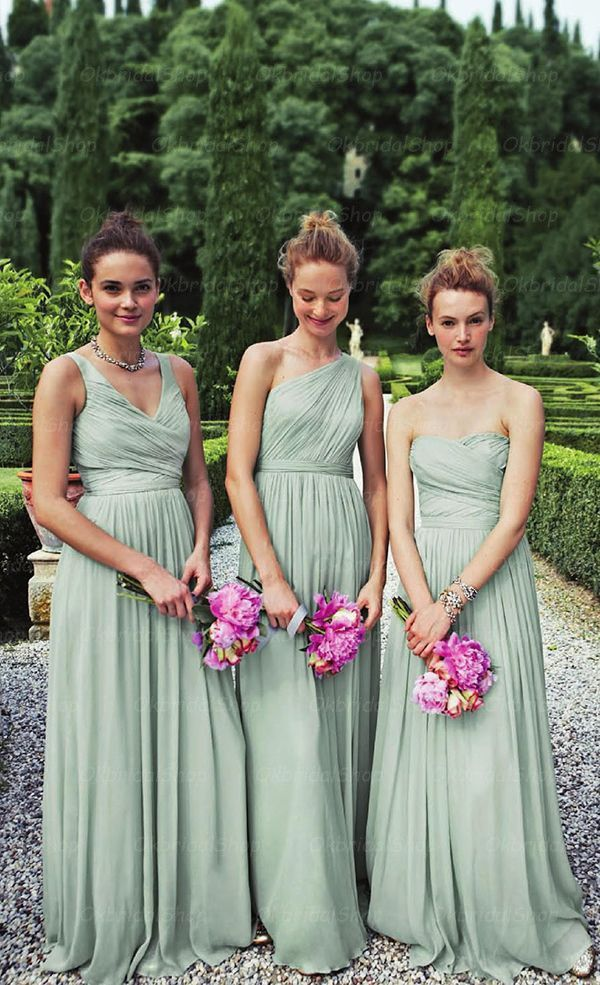 green bridesmaid dresses dusty green bridesmaid dress,long bridesmaid dress,mismatched bridesmaid  dress,chiffon bridesmaid dress nbjgrvq