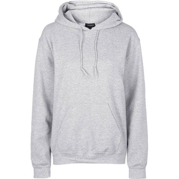 grey hoodie topshop oversized hoodie ($43) via polyvore featuring tops, hoodies, grey  marl, xyoqgkk