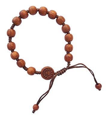 hand-made dark wood rosary bracelet ttzmhjj