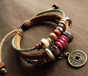 handmade bracelets leather wrapped bracelet with beads, coins and layers of goodness rfdglvd