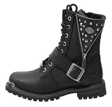 harley davidson boots for women harley-davidson womenu0027s mindy 6.5-inch black boots. gayntcc