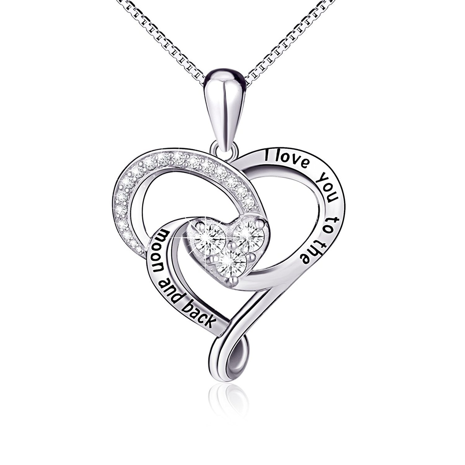 heart pendant necklace 925 sterling silver jewelry  brdkbme