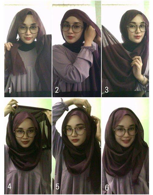 hijab style beautiful 2 minutes hijab tutorial for glasses tqfilmv