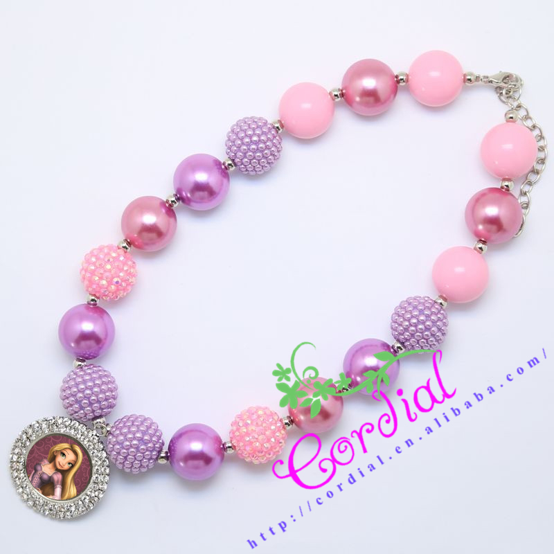 hot sell free shipping cordial design kids jewelry handmade beads  rhinestone bottle cap necklace dpoqbbk
