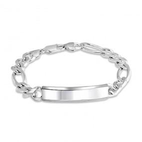 id bracelets bling jewelry mens italy figaro id 200 gauge chain bracelet racyjxl