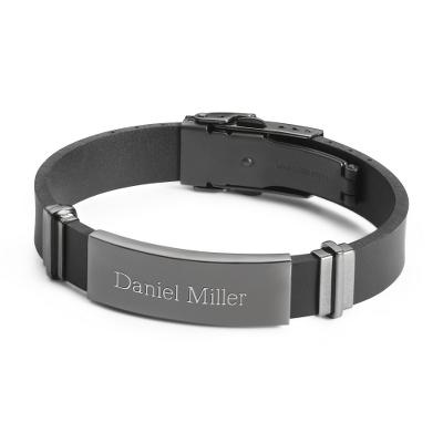 id bracelets gunmetal rubber id bracelet zknjxmk