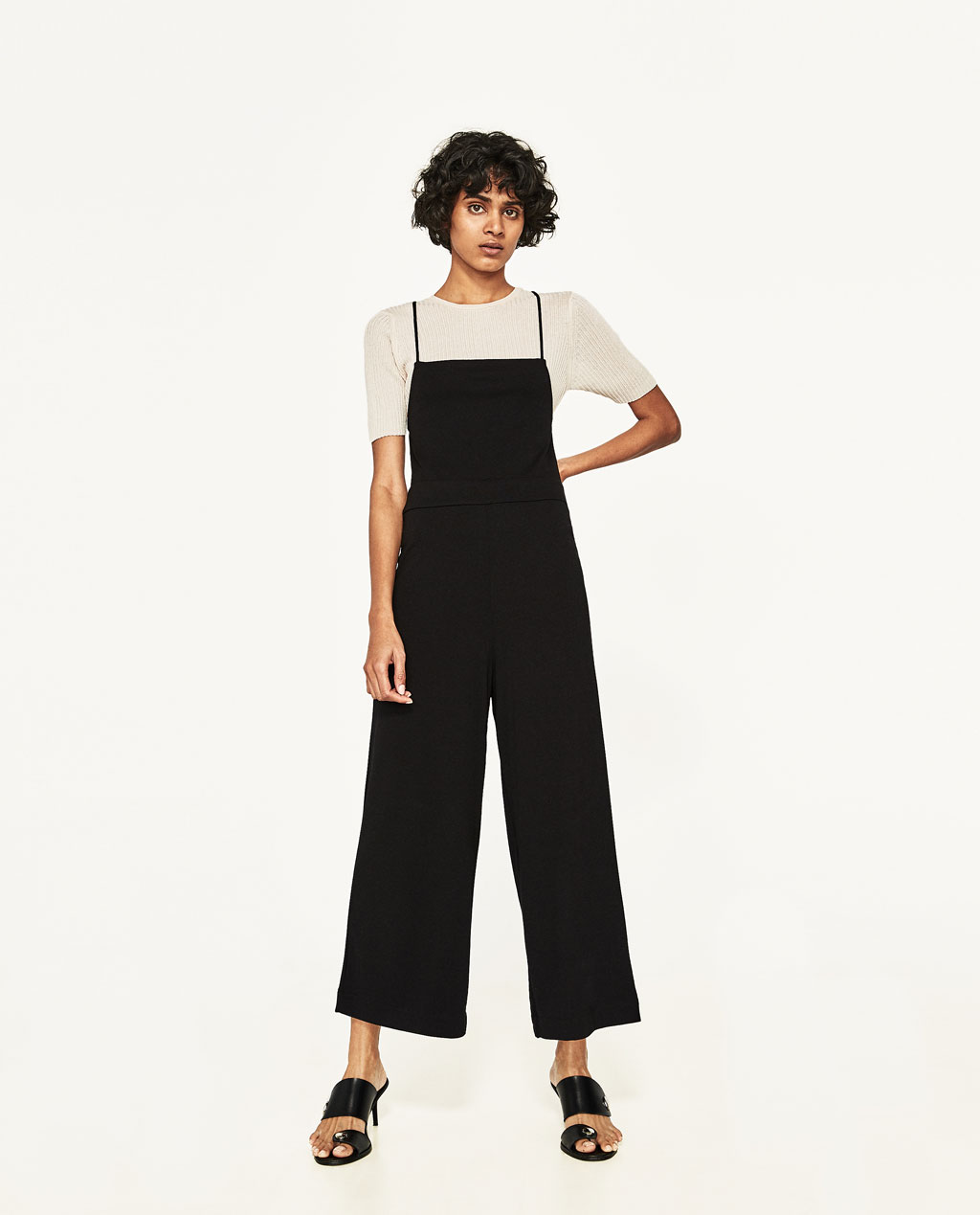 image 1 of backless jumpsuit from zara sorknhv