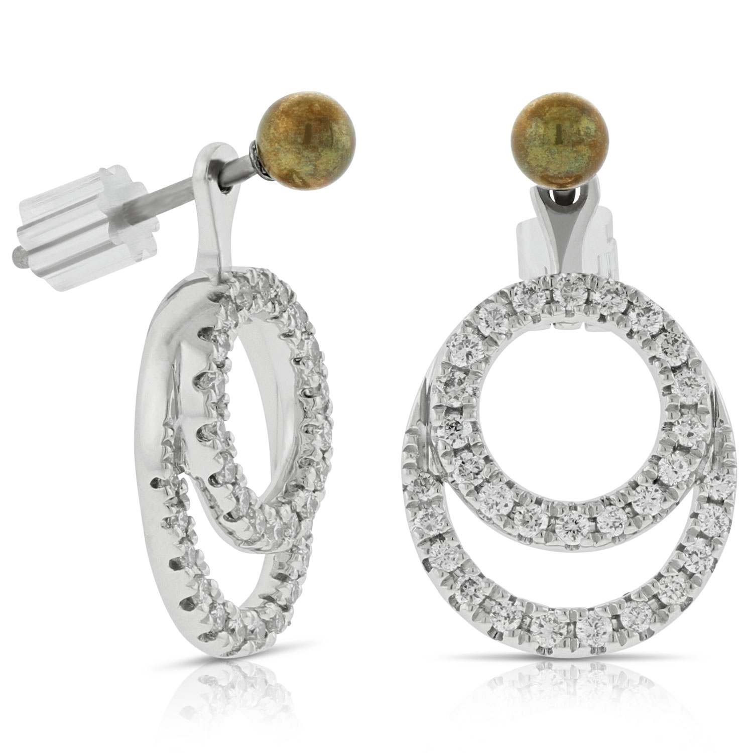 images. convertible diamond earrings jackets 14k khkwfki
