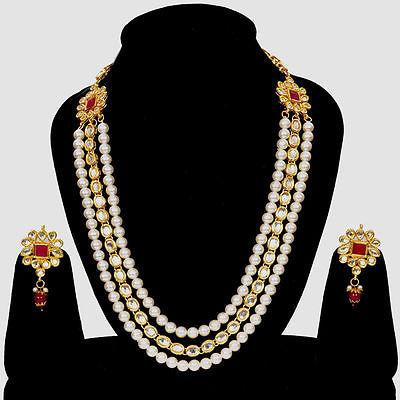 indian fashion jewelry designer kundan pearl necklace earrings indian bridal fashion jewelry set  ipn075 wjqlpok
