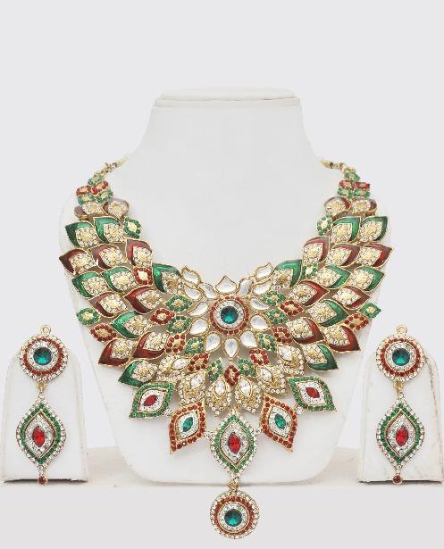 indian fashion jewelry floral design gokwjne