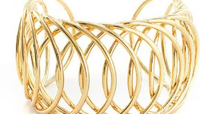 interlaced gold cuff bracelet vpzylii