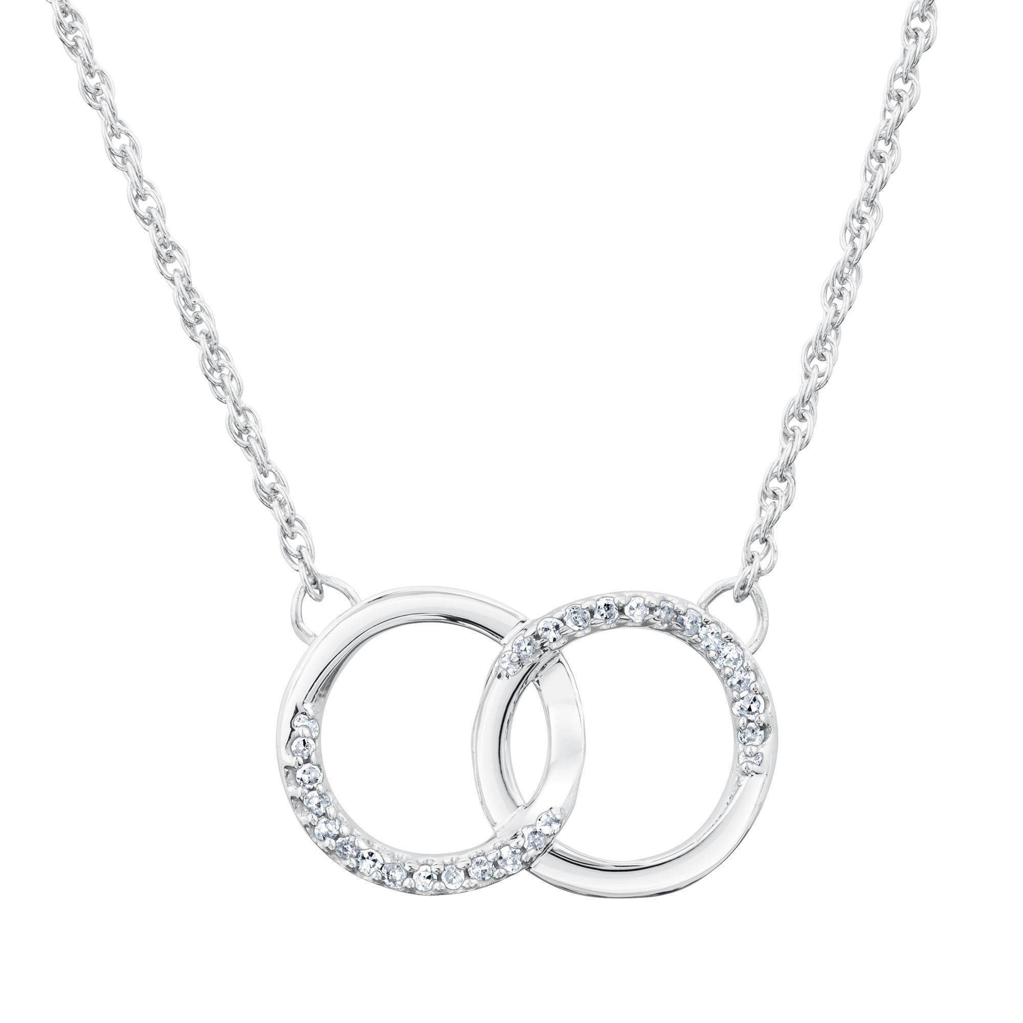 interlocking diamond circle necklace 1/10ctw - item 19430677 | reeds  jewelers avlbppv