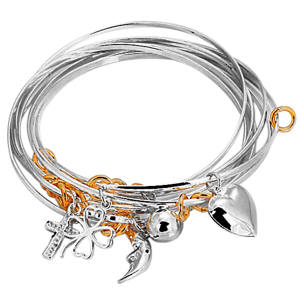intertwined charm bangles gjnvjzd