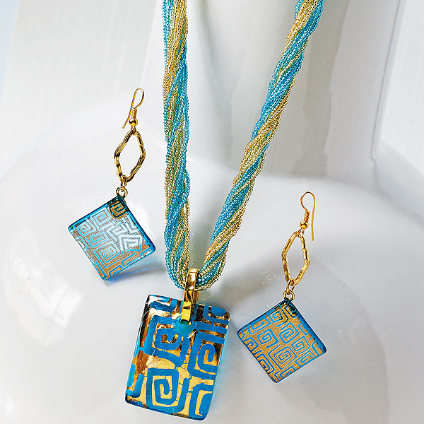 ionia murano glass jewelry set krrouij