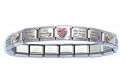 italian bracelets amazon.com: special daughter italian charm bracelet: italian style charm  starter bracelets: jewelry rthsowf