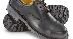 italian military surplus steel toe work shoes, new, black dqgrdtr