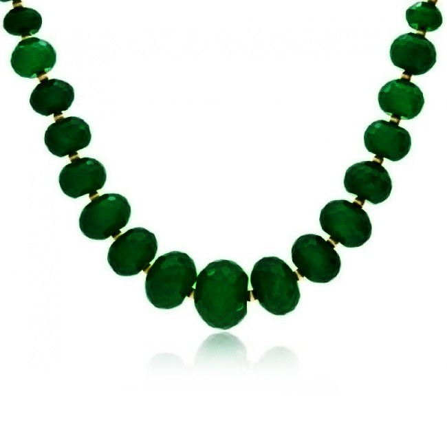 jade necklace bling jewelry gold faceted green jade graduated necklace zevypdb