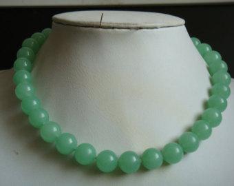 jade necklace   etsy lupyndv