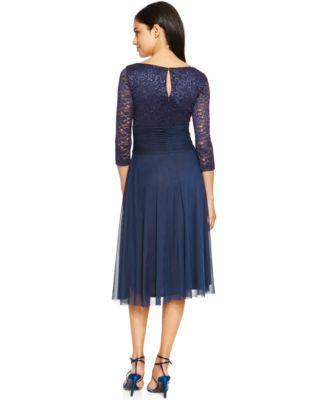 jessica howard dresses jessica howard chiffon lace a-line dress leiztxo