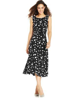 jessica howard dresses jessica howard polka-dot midi dress spfxfrs