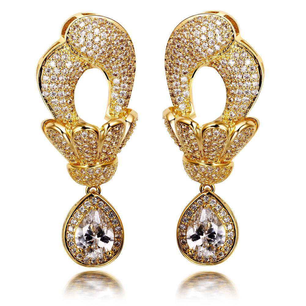 jewellery earrings dubai jewellery large dangle earrings with big tear drop pendant cubic  zirconia women earrings wcxzqtw