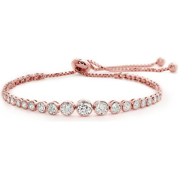 jewelry bracelets carat london quentin rose-gold plated millennium bracelet found on polyvore  featuring jewelry, bracelets djtokwg