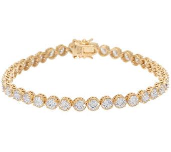 jewelry bracelets diamonique textured tennis bracelet sterling or 14k clad - j327353 ophzmom