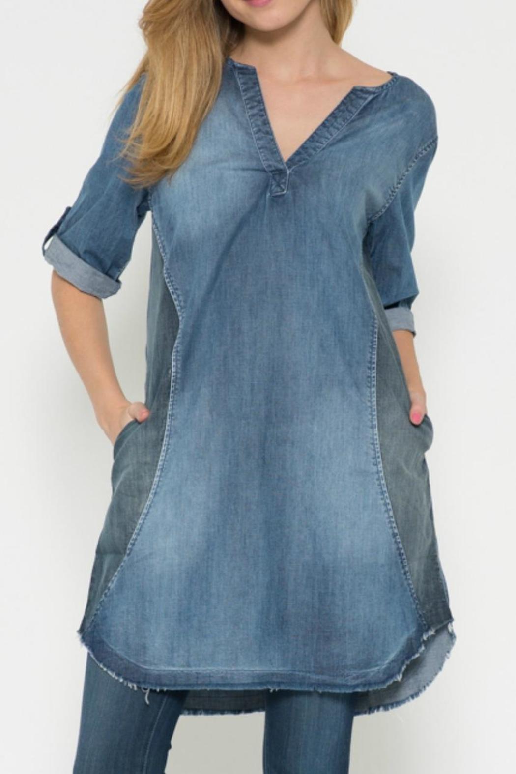 joh apparel denim tunic dress - main image hbadujz