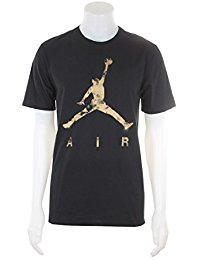 jordan shirts 801074-011 men jumpman air dreams tee jordan black/metallic gold ndniolq