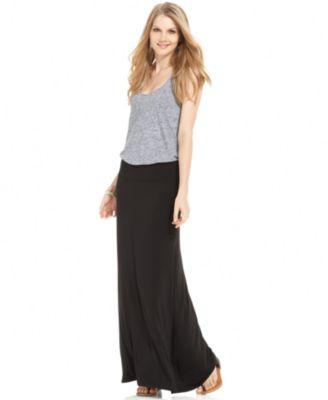 kensie solid knit maxi skirt gnmxgps