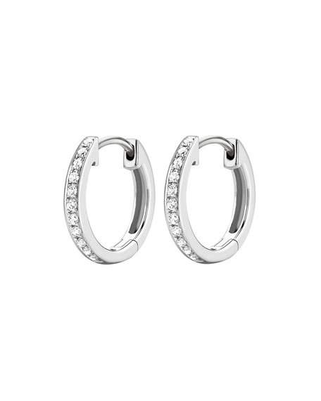 kiki classics 18k white gold diamond hoop earrings ddtekgk