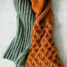 knit scarf made recently spguvhw