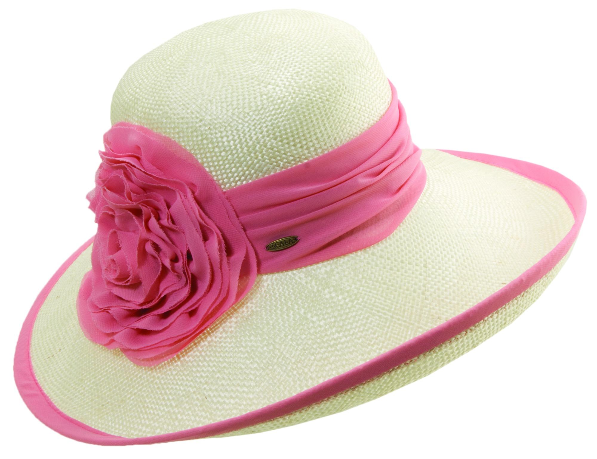 ladies hats images big hats for ladies | new-sisal big brim w/chiffon rosettetrim- lvxxndb