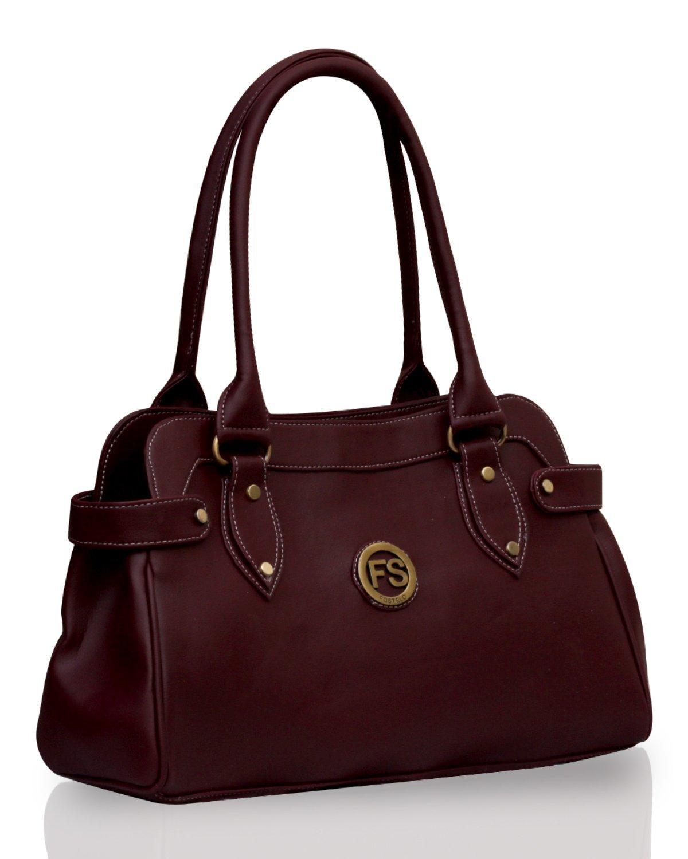 ladies purse fostelo womenu0027s handbag maroon (fsb-391) qbcfwgv