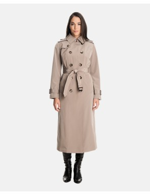 ladies trench coat rachel double breasted long trench coat with detachable hood iadfuqv
