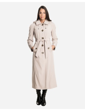 ladies trench coat sophia long raincoat with detachable hood u0026 liner fmevyvp