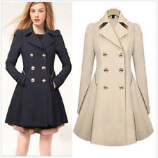 ladies trench coat us ladies slim outwear coat breasted long trench overcoat women windbreaker hbyxton