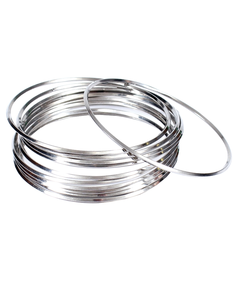 ladiesu0027 silver bangles - set of 12 xaegpae