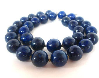 lapis jewelry lapis necklace, 12mm lapis bead necklace, genuine lapis lazuli, lapis  jewelry, blue duqtzeg
