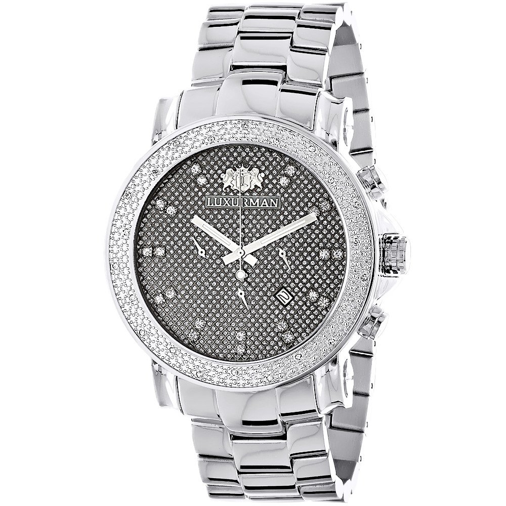 large face diamond watches for men oversized luxurman escalade watch 0.25ct iomroen
