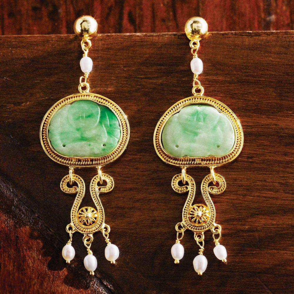 last emperor vintage jade earrings - national geographic store eorplcp