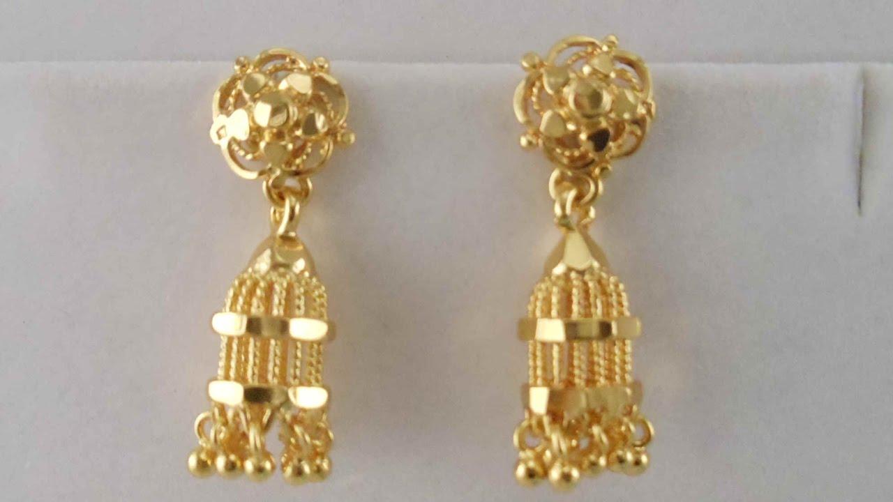 latest gold long jummka earrings designs || diamond earring designs pliblnb