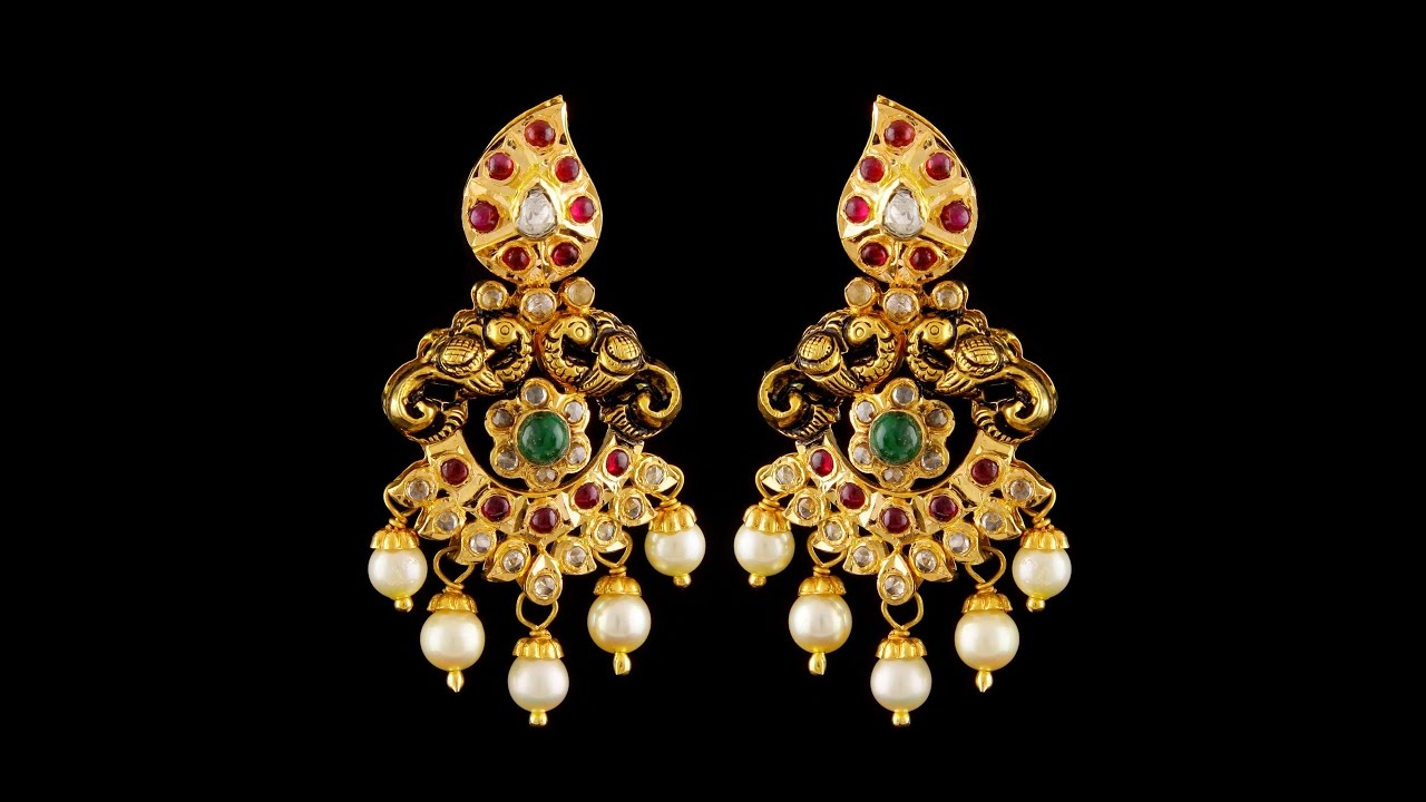 latest pearl and gold earring designs ueslkgh