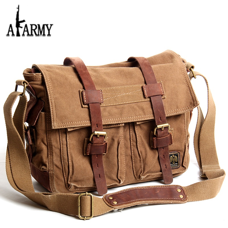 leather bags for men akarmy canvas bag men and womenu0027s shoulder messenger cross vintage cow leather  bags slung ibttlcf