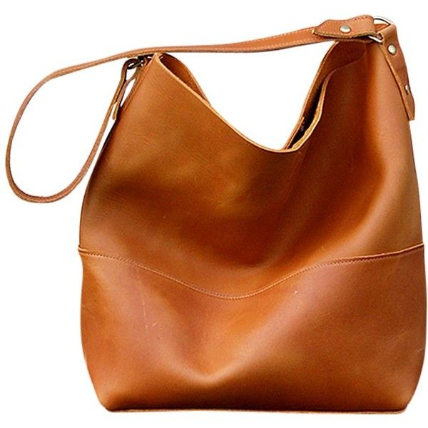 leather handbag bubo handmade catalina leather hobo bag ($175) ❤ liked on polyvore  featuring bags, isnxobf