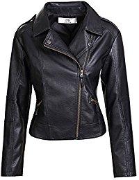 leather jackets women artfasion womenu0027s slim tailoring faux leather pu short jacket coat bywjhtf