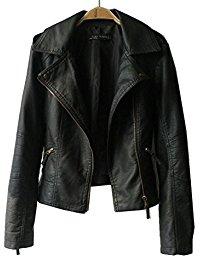 leather jackets women vangull women ladies zipper slim biker motorcycle pu leather jackets punk  rock coats rvospow
