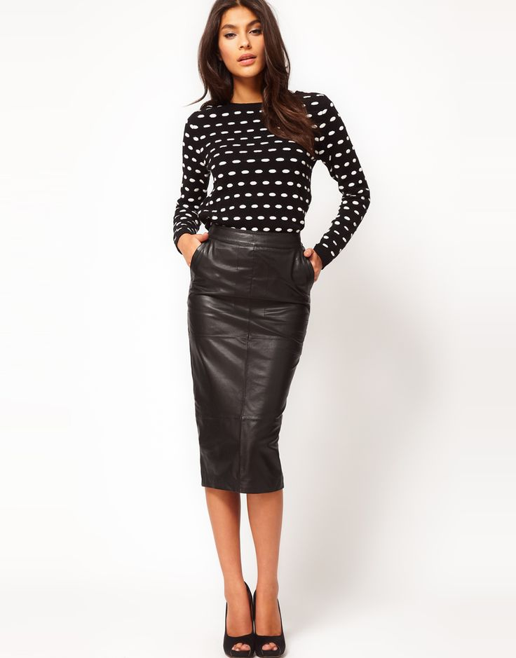 leather pencil skirt dohvbjb