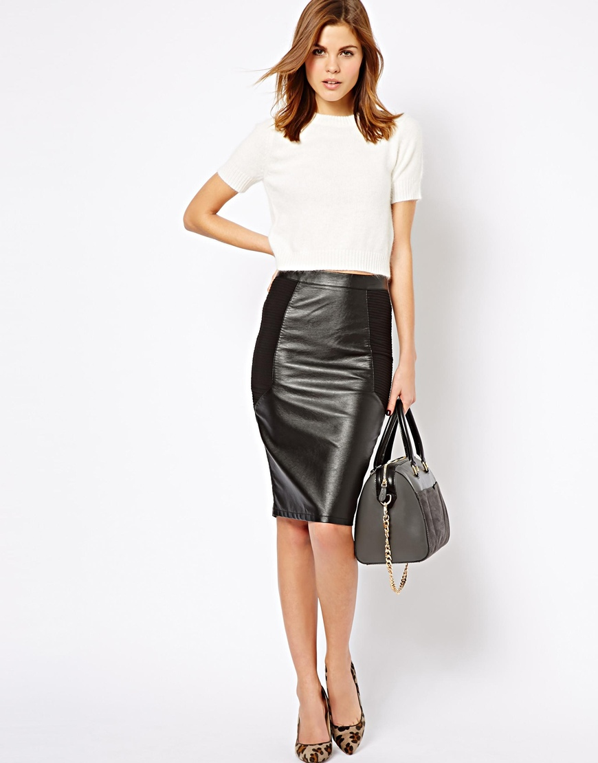 leather pencil skirt gallery. womenu0027s black leather pencil skirts ... rjlnkfh