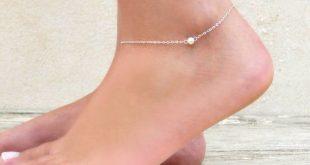 leg bracelet delicate silver ankle bracelet silver bead anklet by annikabella ibrawbn